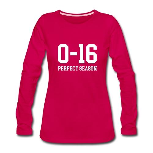 Detroit Lions 0 16 Perfect Season - Women's Premium Long Sleeve T-Shirt