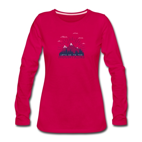 Adventure Mountains T-shirts and Products - Women's Premium Long Sleeve T-Shirt