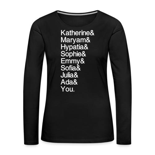Women in Math (& You!) - Women's Premium Long Sleeve T-Shirt