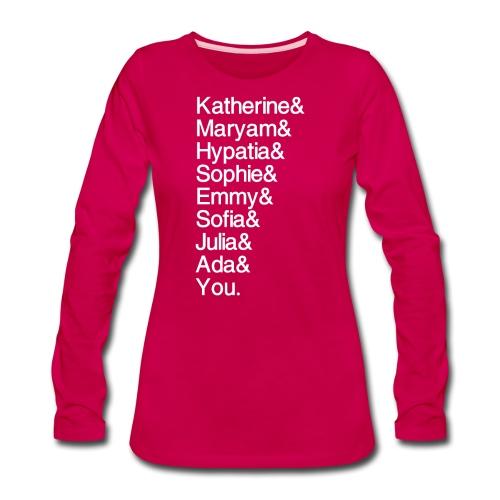 Women in Math (& You!) - Women's Premium Slim Fit Long Sleeve T-Shirt