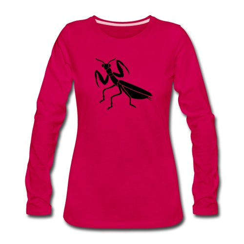 praying mantis bug insect - Women's Premium Slim Fit Long Sleeve T-Shirt