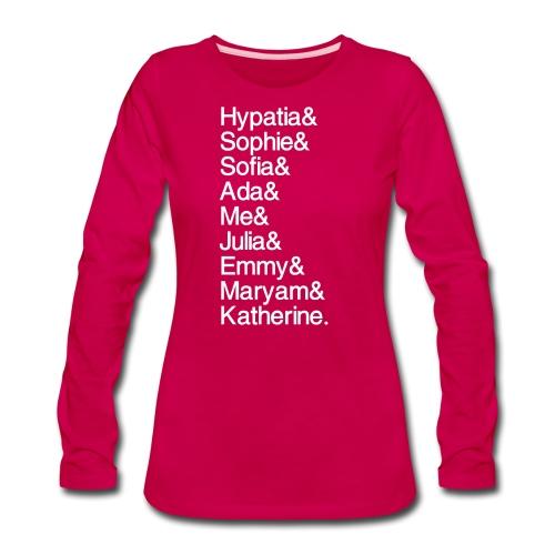 Women in Math & Me! - Women's Premium Long Sleeve T-Shirt