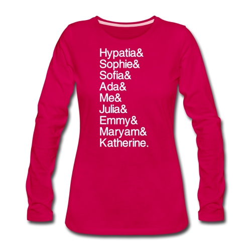 Women in Math & Me! - Women's Premium Slim Fit Long Sleeve T-Shirt