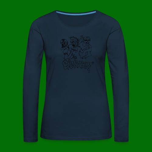 SickBoys Zombie - Women's Premium Slim Fit Long Sleeve T-Shirt