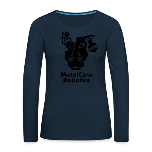 MetalCow Solid - Women's Premium Slim Fit Long Sleeve T-Shirt