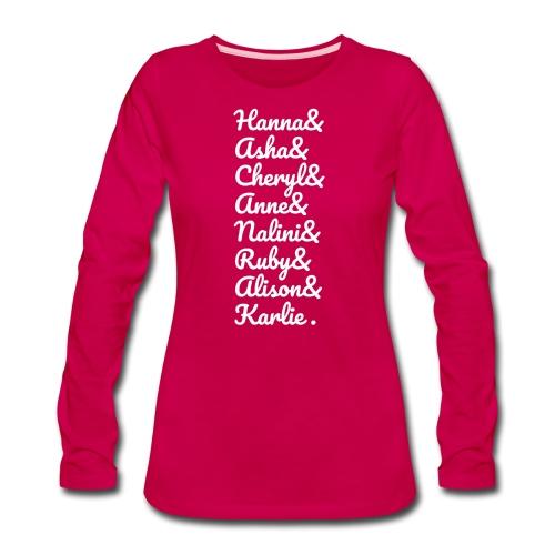 #MathsGals for Australia Fire Relief (White Text) - Women's Premium Slim Fit Long Sleeve T-Shirt
