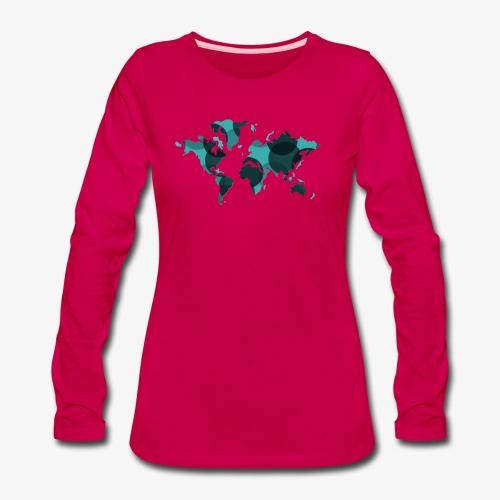 Artsy Earth - Women's Premium Slim Fit Long Sleeve T-Shirt