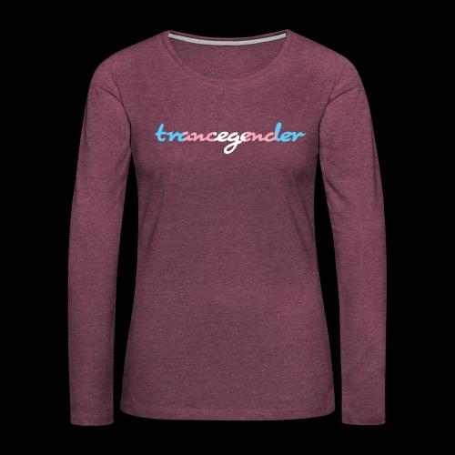 trancegender - Women's Premium Slim Fit Long Sleeve T-Shirt