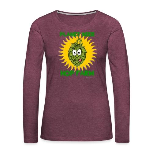 Planet Beer Hop Farm - Women's Premium Slim Fit Long Sleeve T-Shirt