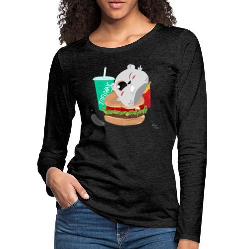 Fast Food Sun - Women's Premium Slim Fit Long Sleeve T-Shirt