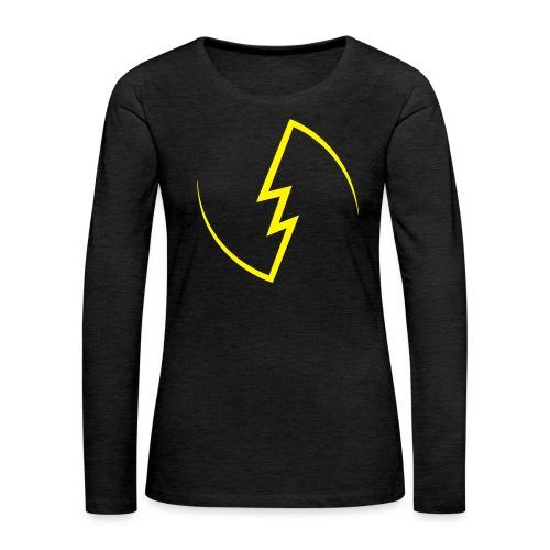 Electric Spark - Women's Premium Slim Fit Long Sleeve T-Shirt