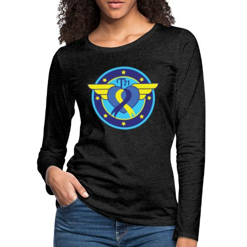 Down syndrome Hero - Women's Premium Slim Fit Long Sleeve T-Shirt