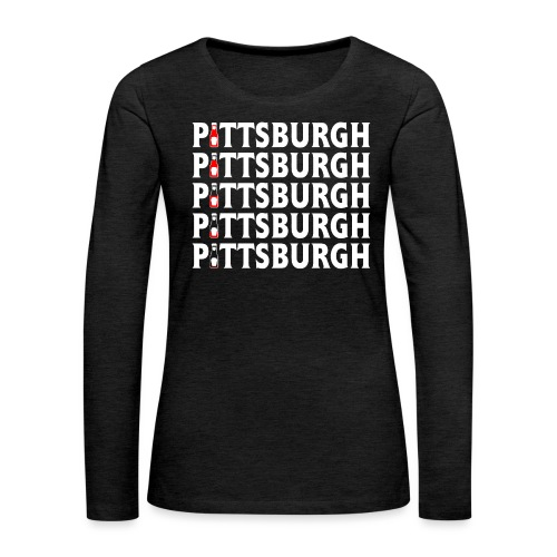 Ketch Up in PGH - Women's Premium Slim Fit Long Sleeve T-Shirt