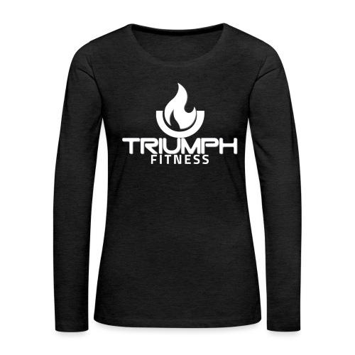 triumph 01clear white - Women's Premium Slim Fit Long Sleeve T-Shirt