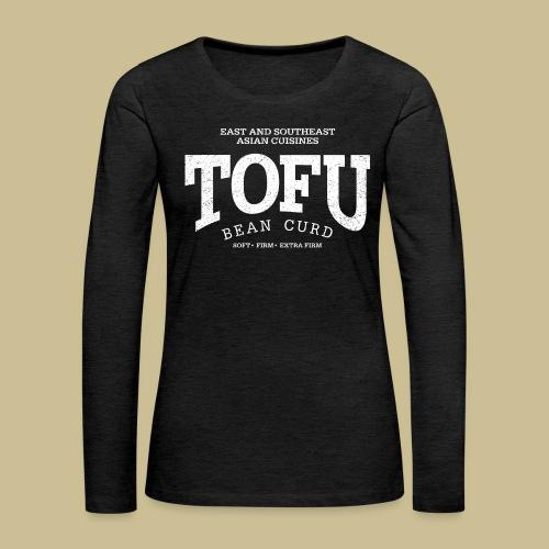 Tofu (white oldstyle) - Women's Premium Slim Fit Long Sleeve T-Shirt