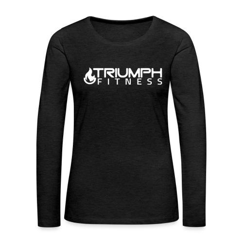 triumph 03 clear white - Women's Premium Slim Fit Long Sleeve T-Shirt