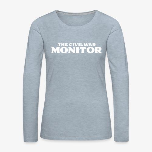 CWM LOGO WHITE - Women's Premium Long Sleeve T-Shirt