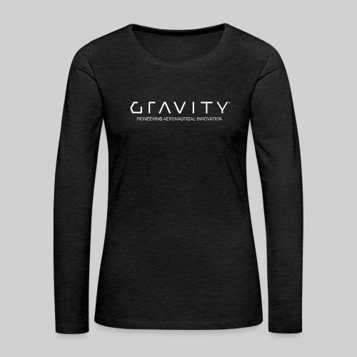 Gravity Logo with Tagline - Women's Premium Slim Fit Long Sleeve T-Shirt