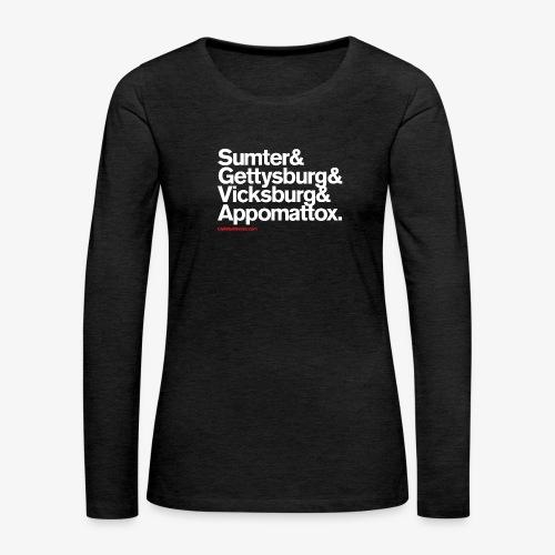 CIVIL WAR BATTLES - Women's Premium Long Sleeve T-Shirt