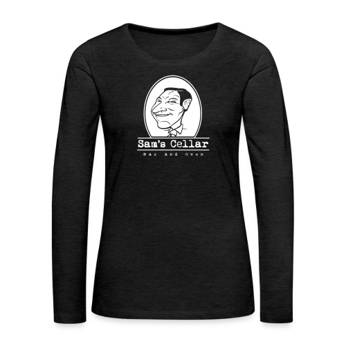 SamsCellar_White-logo - Women's Premium Slim Fit Long Sleeve T-Shirt