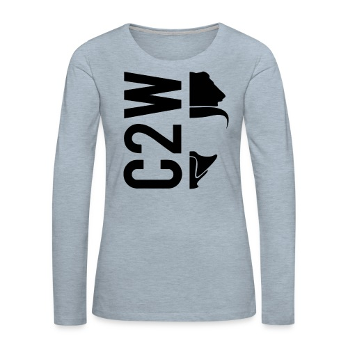 C2W Split Logo - Black - Premium Tee - Women's Premium Long Sleeve T-Shirt