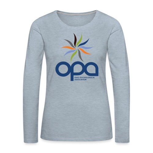 Long-sleeve t-shirt with full color OPA logo - Women's Premium Slim Fit Long Sleeve T-Shirt