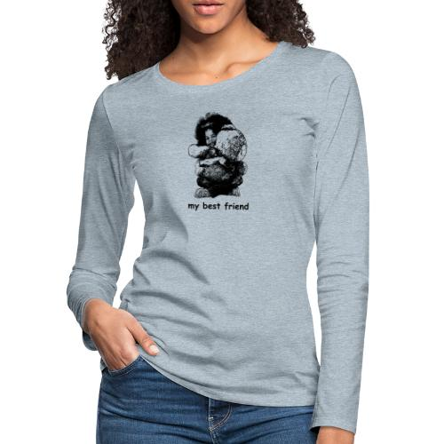 My best friend (girl) - Women's Premium Slim Fit Long Sleeve T-Shirt