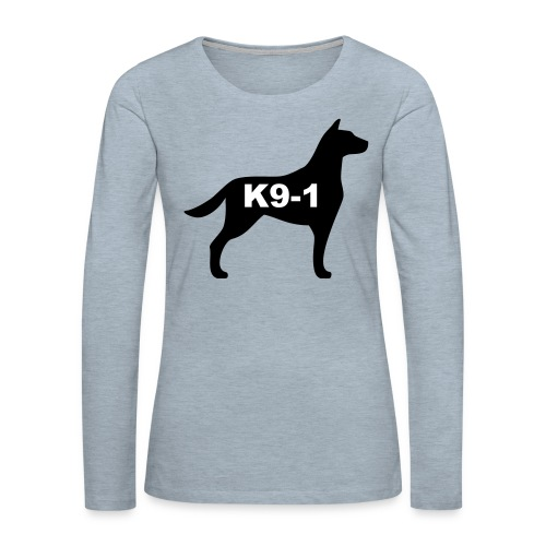 k9-1 Logo Large - Women's Premium Long Sleeve T-Shirt