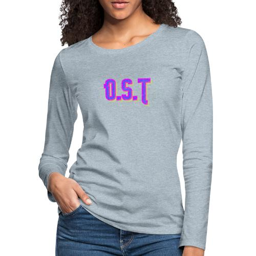 Ost Logo - Women's Premium Slim Fit Long Sleeve T-Shirt