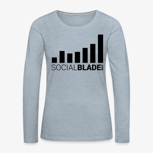 Socialblade (Dark) - Women's Premium Slim Fit Long Sleeve T-Shirt