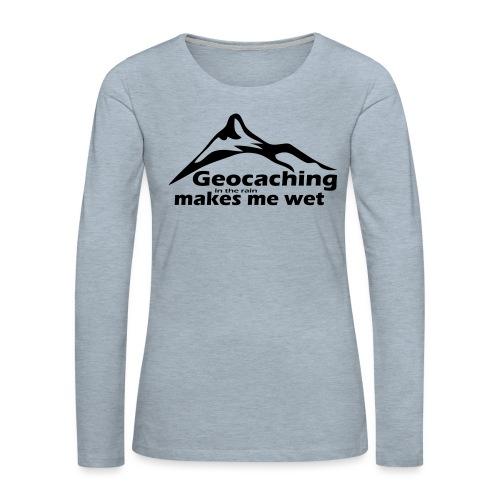Wet Geocaching - Women's Premium Long Sleeve T-Shirt