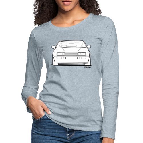 Wolfsburg Rado Outline - Women's Premium Slim Fit Long Sleeve T-Shirt