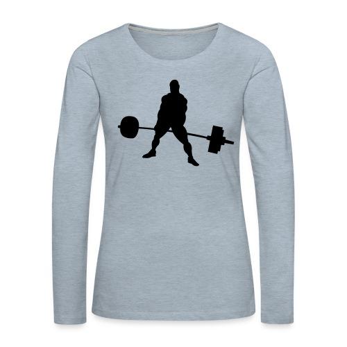 Powerlifting - Women's Premium Slim Fit Long Sleeve T-Shirt