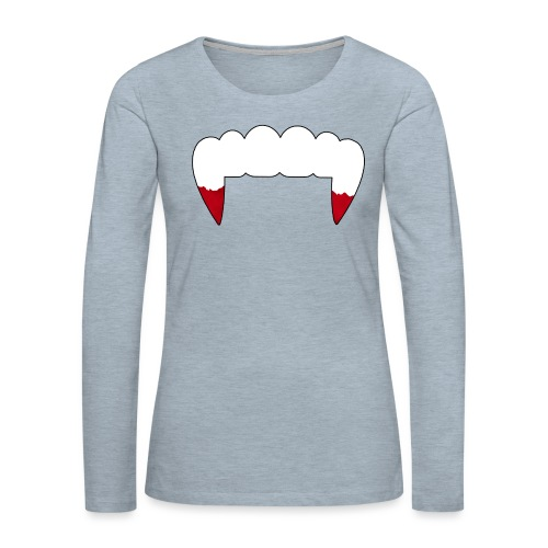 Vampire Fangs - Women's Premium Long Sleeve T-Shirt