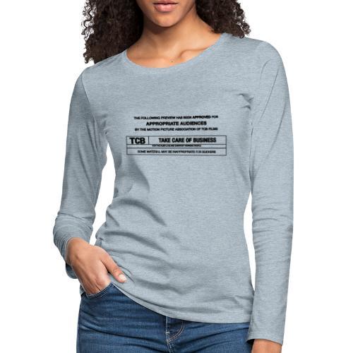TCB Films Disclamer - Women's Premium Long Sleeve T-Shirt