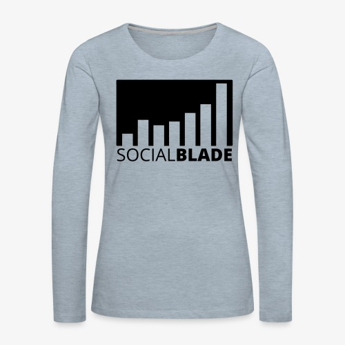 SB Blackout Logo - Women's Premium Slim Fit Long Sleeve T-Shirt