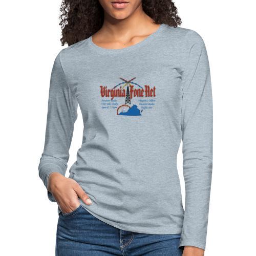 VFN 3947 Logo - Women's Premium Slim Fit Long Sleeve T-Shirt