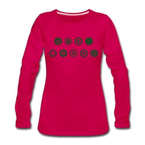 Axis & Allies Country Symbols - One Color - Women's Premium Long Sleeve T-Shirt