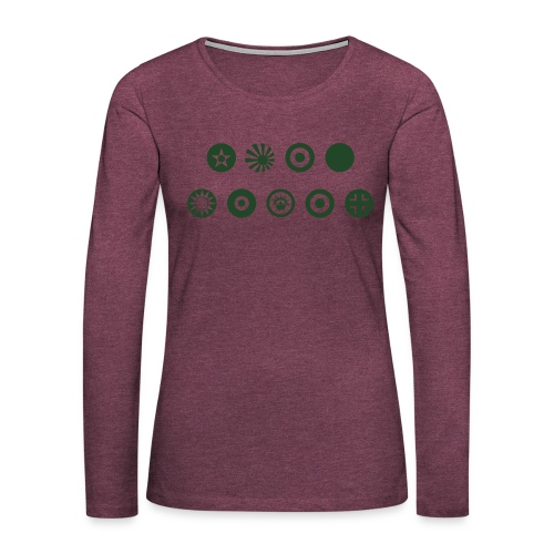 Axis & Allies Country Symbols - One Color - Women's Premium Slim Fit Long Sleeve T-Shirt