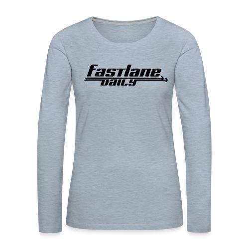 Fast Lane Daily logo - Women's Premium Slim Fit Long Sleeve T-Shirt