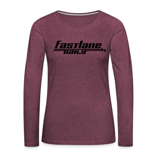 Fast Lane Daily logo - Women's Premium Slim Fit Long Sleeve T-Shirt