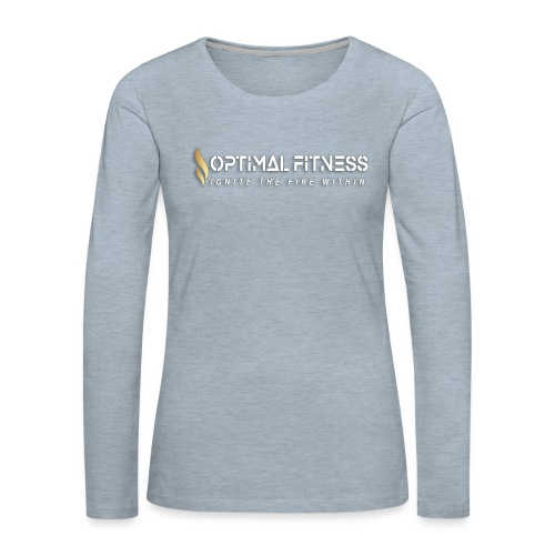 white logo, keep calm and hiit it white - Women's Premium Long Sleeve T-Shirt