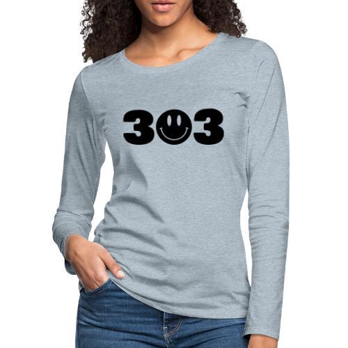 3 Smiley 3 - Women's Premium Slim Fit Long Sleeve T-Shirt