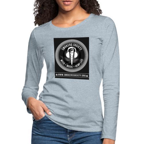 Smokers Society - Women's Premium Slim Fit Long Sleeve T-Shirt