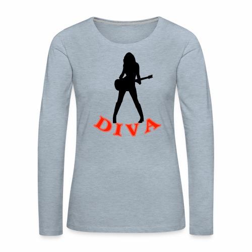 Rock Star Diva - Women's Premium Slim Fit Long Sleeve T-Shirt