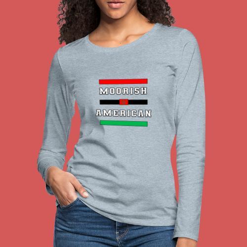 Moorish American Bars - Women's Premium Slim Fit Long Sleeve T-Shirt