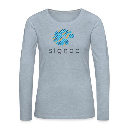 signac - Women's Premium Slim Fit Long Sleeve T-Shirt
