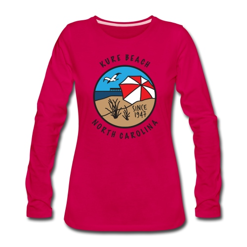 Kure Beach Day-Black Lettering-Front Only - Women's Premium Long Sleeve T-Shirt