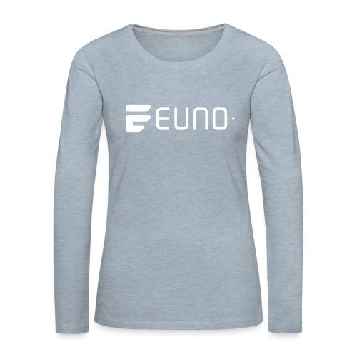 EUNO LOGO LANDSCAPE WHITE - Women's Premium Slim Fit Long Sleeve T-Shirt