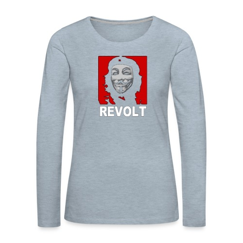 Anonymous Che Revolt Mugs & Drinkware - Women's Premium Slim Fit Long Sleeve T-Shirt